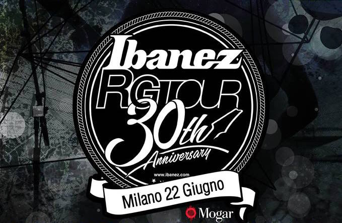 Ibanez RG 30th Anniversary Tour, prima tappa Milano!